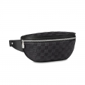 Louis Vuitton Men's Campus Bumbag/Belt Bag in Black Damier Leather N40298 Bag