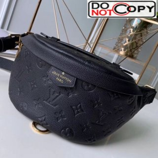 Louis Vuitton Monogram Empreinte Leather Bumbag/Belt Bag M43644 Black bag