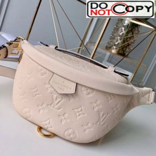Louis Vuitton Monogram Empreinte Leather Bumbag/Belt Bag M43644 White bag