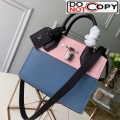 Louis Vuitton City Steamer Mini Bag in Grainy Calfskin M53804 Blue/Pink/Black bag