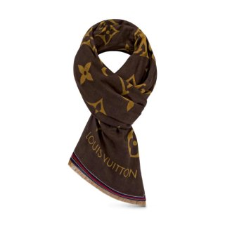 Louis Vuitton LV Crafty Bi Color Stole Scarf 135x190cm M76366 Yellow/Brown bag