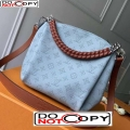 Louis Vuitton Babylone BB Chain Bag in Perforate Calfskin M53153 Blue/Brown bag