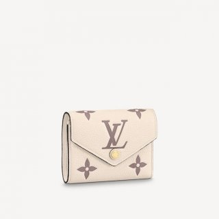 Louis Vuitton Victorine Wallet in Giant Monogram Leather M80086 Cream White/Dusty Pink bag
