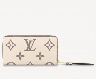 Louis Vuitton Zippy Wallet in Giant Monogram Leather M80116 Cream White/Dusty Pink bag