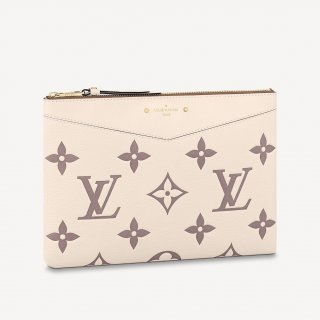 Louis Vuitton Daily Pouch in Giant Monogram Leather M80174 Cream White/Dusty Pink bag