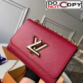 Louis Vuitton Epi Leather Twist MM Shoulder Bag M50282 Deep Red/Gold Bag