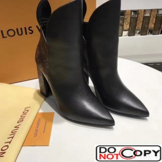 Louis Vuitton Heel 9.5cm Rodeo Queen Ankle Boots 1A2VJM Monogram Leather