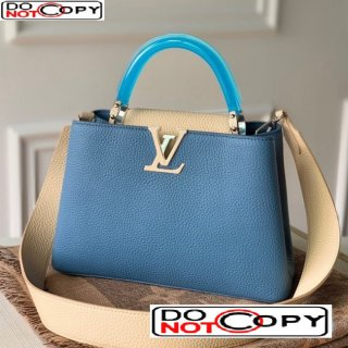 Louis Vuitton Capucines BB Bag with Translucent Top Handle M56300 Blue/Light Beige bag