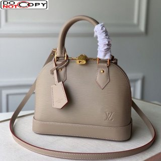 Louis Vuitton Alma BB in Galet Grey Epi Leather M40302 bag