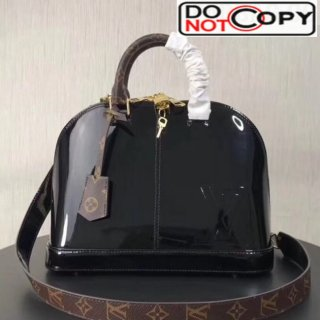 Louis Vuitton Alma PM Patent Lether Top Handle Bag M54395 Black bag