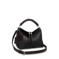 Louis Vuitton Beaubourg Hobo MM Bag in Perforate Calfskin M56073 Black bag
