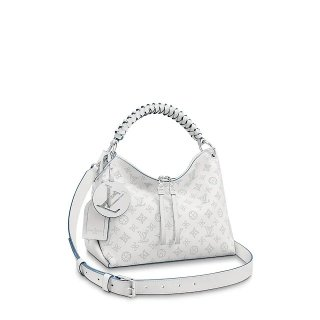 Louis Vuitton Beaubourg Hobo MM Bag in Perforate Calfskin M56201 White bag