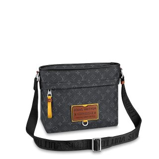 Louis Vuitton Besace Zippee MM Bag in Monogram Eclipse Canvas M45214 Black Bag