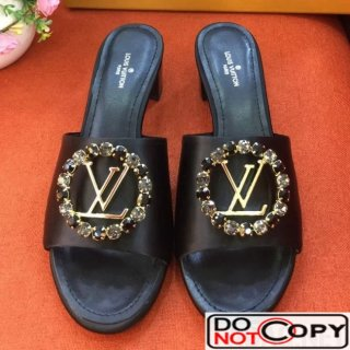 Louis Vuitton Black Leather Madeleine Mule