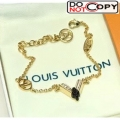 Louis Vuitton Black V Bracelet 02
