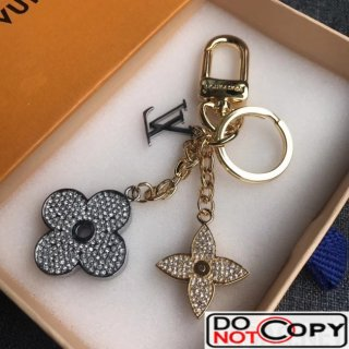 Louis Vuitton Blooming Flower Strass Bag Charm Key Holder M64265