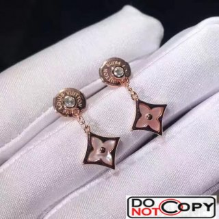 Louis Vuitton Blossom BB Star Eearstud Pink Gold Pink Mother Of Pearl