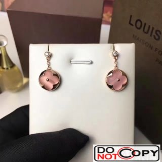 Louis Vuitton Blossom Sun Eearstud Pink Gold Pink Mother Of Pearl