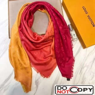 Louis Vuitton Blurrygram Monogram Shawl Orange