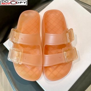 Louis Vuitton Bom Dia Transparent TPU Flat Sandals Pink