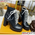 Louis Vuitton Calfskin Star Trail Lace-up Ankle Short Boot Black 1A4WLI