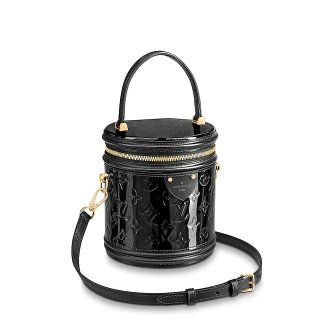 Louis Vuitton Cannes Bucket Case Top Handle Bag in Patent Leather M53997 Black bag