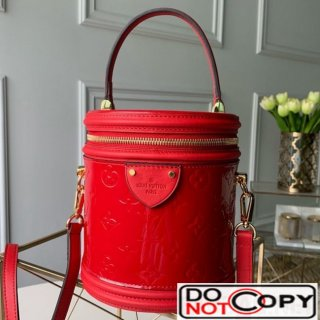 Louis Vuitton Cannes Bucket Case Top Handle Bag in Patent Leather M53998 Red bag