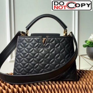 Louis Vuitton Capucines BB Monogram Flower Top Handle Bag M55360 Black bag