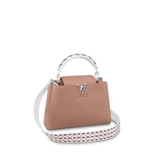 Louis Vuitton Capucines BB with Braided Detail M57218 Blush Pink bag
