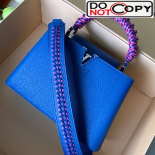 Louis Vuitton Capucines BB with Braided Handle M55236 Royal Blue bag