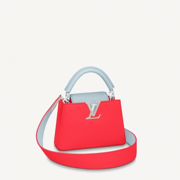 Louis Vuitton Capucines Mini Bag M57520 Coral Red bag