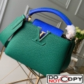 Louis Vuitton Capucines Mini with Python Skin Top Handle Bag Green bag