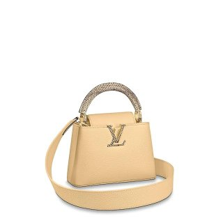 Louis Vuitton Capucines Mini with Snakeskin Charm M55923 Yellow bag