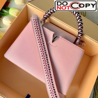 Louis Vuitton Capucines PM with Braided Handle M55083 Pink bag