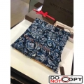 Louis Vuitton Cashmere Flower Scarf Blue F W
