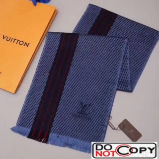 Louis Vuitton Cashmere Scarf For Men Blue