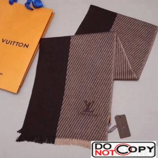 Louis Vuitton Cashmere Scarf For Men Brown