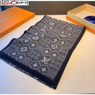 Louis Vuitton Cashmere Scarf for Men Grey