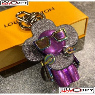 Louis Vuitton Charm and Key Holder Purple