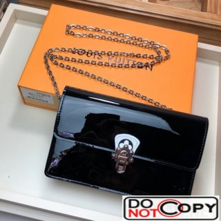 Louis Vuitton Cherrywood WOC Chain Wallet in Patent Leather M67793 Black bag