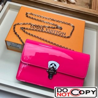 Louis Vuitton Cherrywood WOC Chain Wallet in Patent Leather M67793 Pink bag