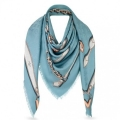 Louis Vuitton Ciel Monogram Confidential Shawl M78697