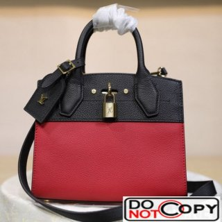 Louis Vuitton City Steamer Mini Top Handle Bag M53804 Black Red bag