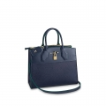 Louis Vuitton City Steamer MM Bag In Smooth Grainy Calfskin M55347 Deep Blue bag