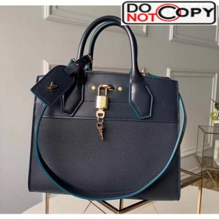 Louis Vuitton City Steamer PM Bag In Smooth Grainy Calfskin M55347 Deep Blue bag