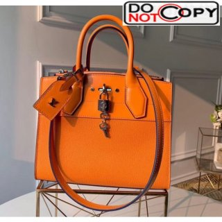Louis Vuitton City Steamer PM Bag In Smooth Grainy Calfskin M55348 Orange bag
