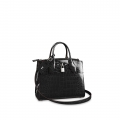 Louis Vuitton City Steamer PM Top Handle Bag in Glossy Crocodile Leather N92515 Black bag