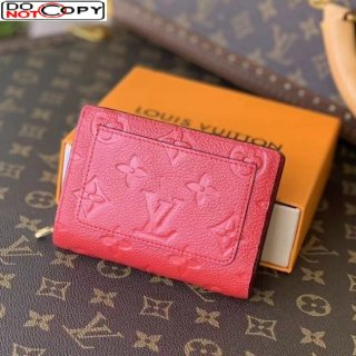 Louis Vuitton Clea Wallet in Monogram Leather M80151 Red bag