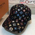 Louis Vuitton Colored Monogram Baseball Hat Black