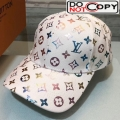 Louis Vuitton Colored Monogram Baseball Hat White